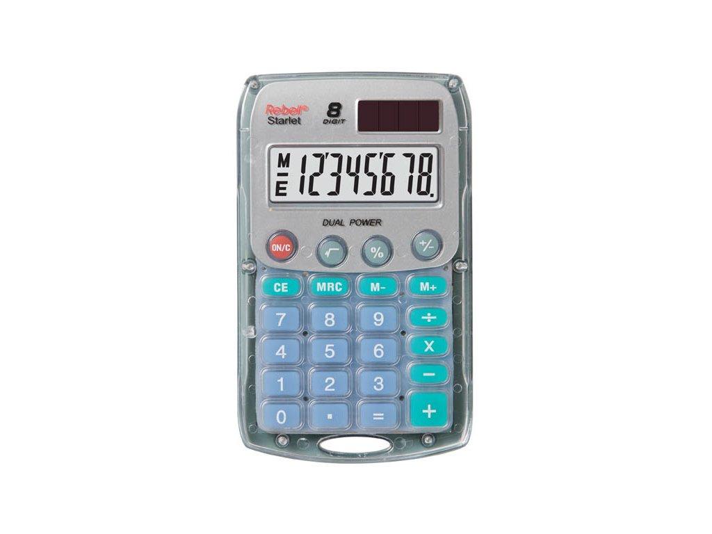 Kalkulačka Rebell Starlet 8 - transparentní