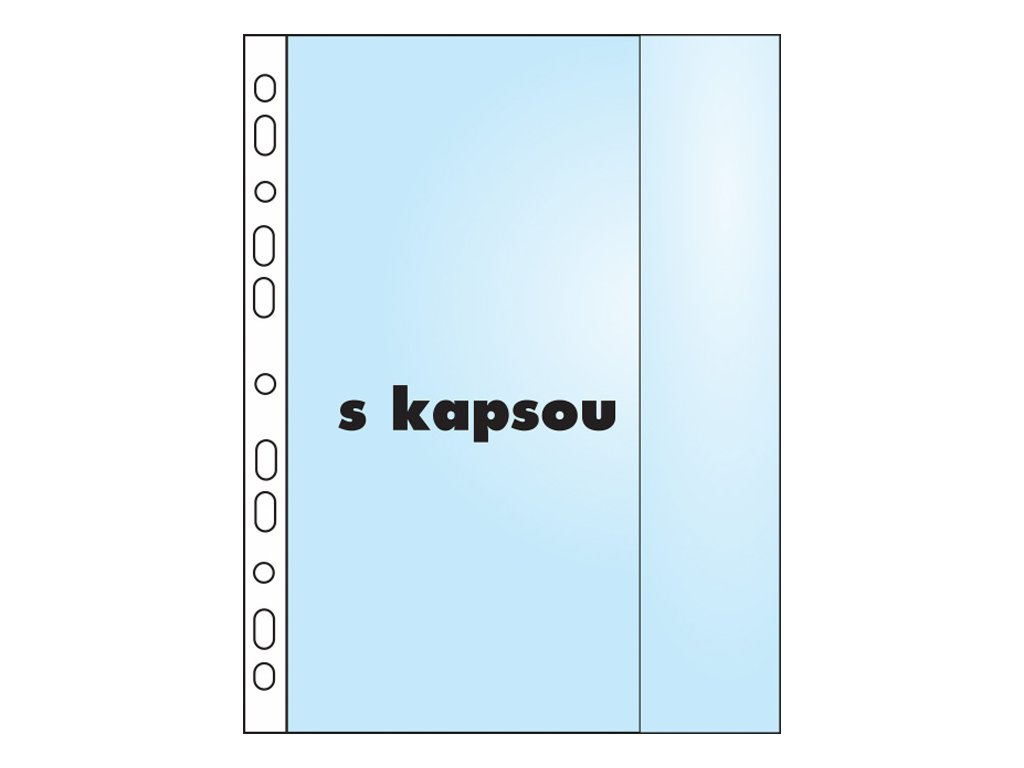 Závěsný obal Copy s kapsou - A4 matný /110 my / 10 ks