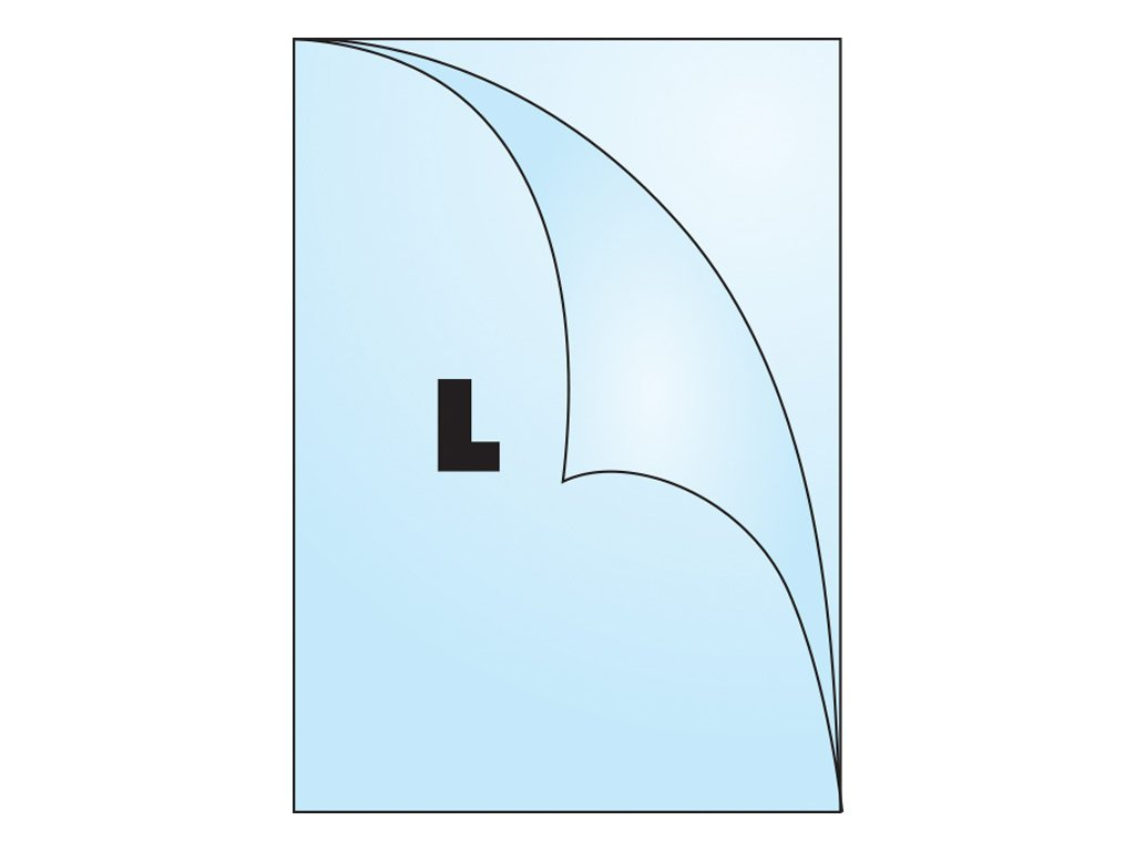 Zakládací obal tvar L - tvar L / A4 matný / 115 my / 10 ks