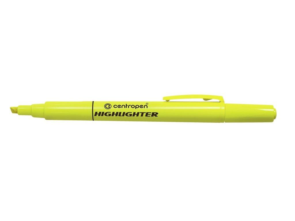 Zvýrazňovač Centropen 8722 HIGHLIGHTER - žlutá