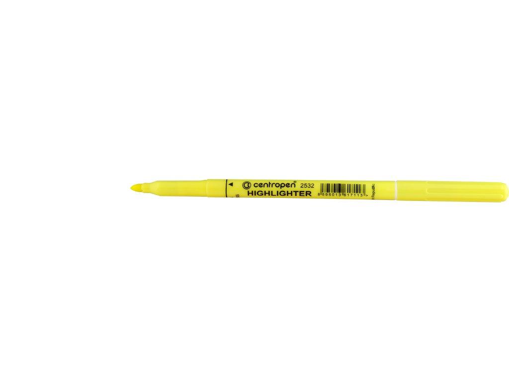 Zvýrazňovač Centropen 2532 - žlutá
