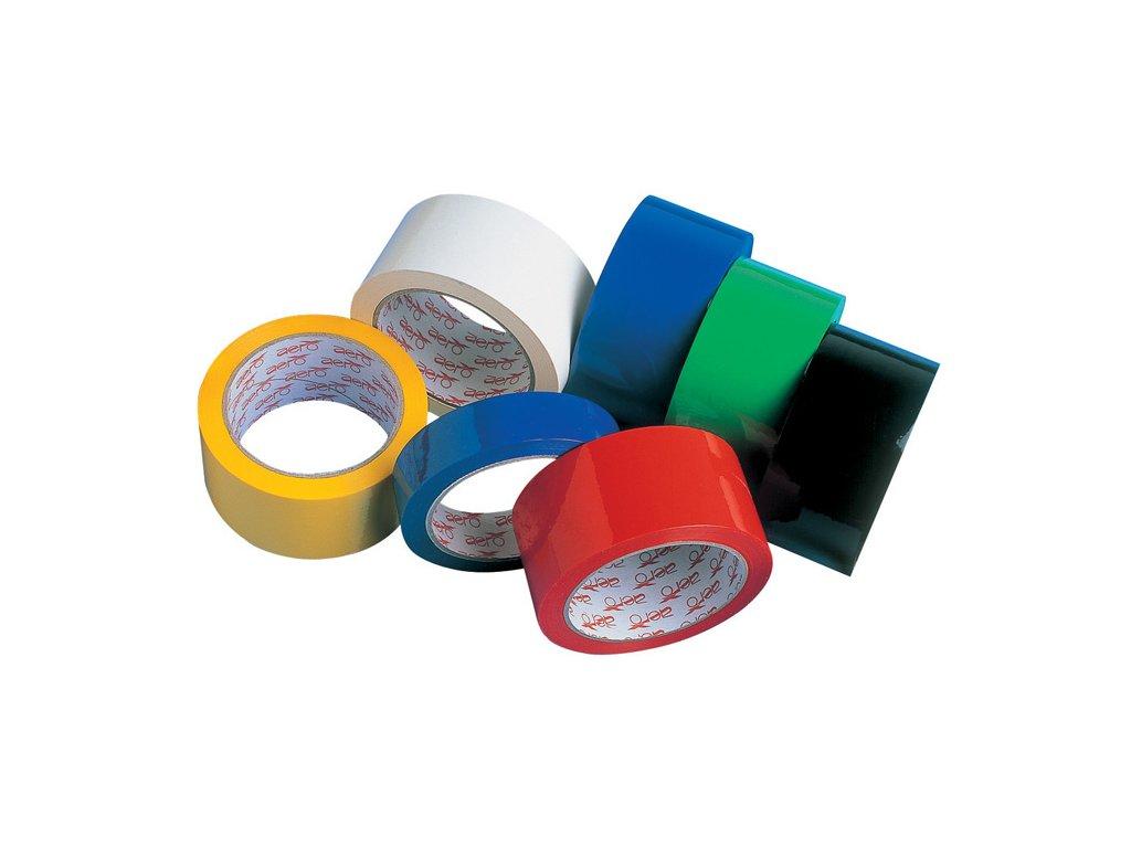 Balicí pásky barevné - 25 mm x 66 m / červená