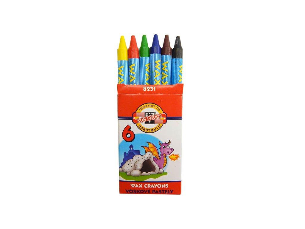 Pastelky voskové - 6 barev