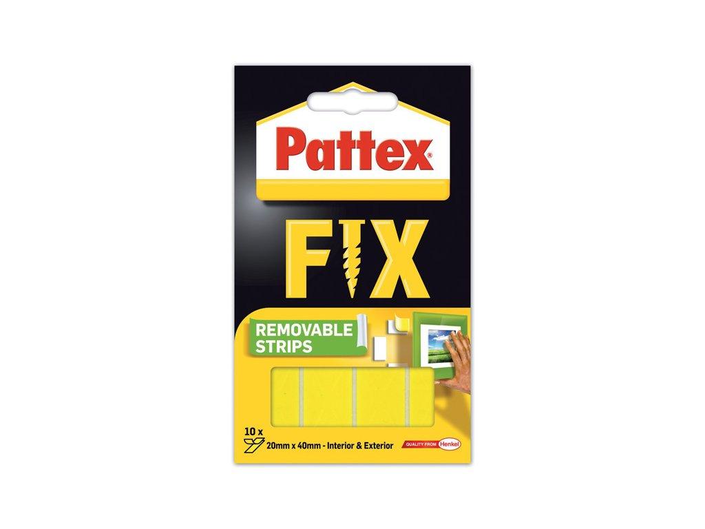 Montážní oboustranné proužky Pattex Super Fix - 4 x 2 cm / 10 ks