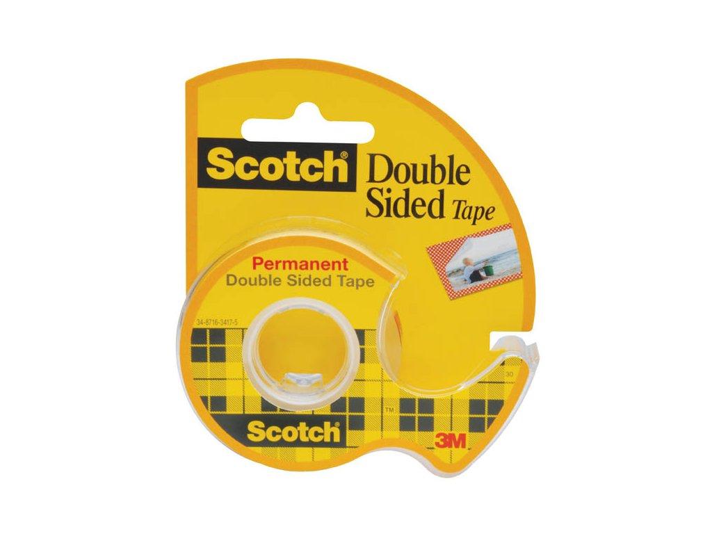 Lepicí páska oboustranná Scotch s odvíječem - 12 mm x 6,3 m
