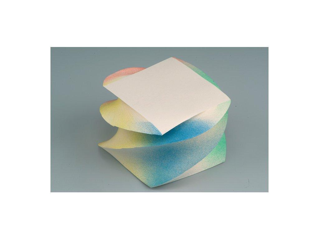 Záznamní kostky stříkané - 9 cm x 9 cm x 7 cm / lepená točená vazba