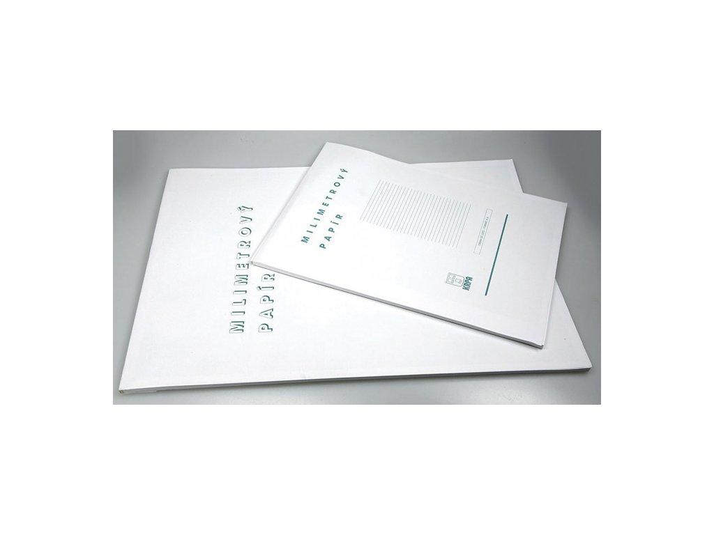 Milimetrový papír - blok A4 / 50 listů