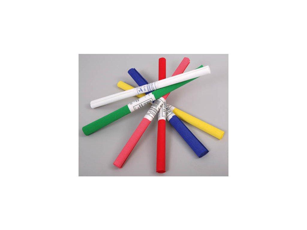 Krepový papír - role / 50 x 200 cm / bílá