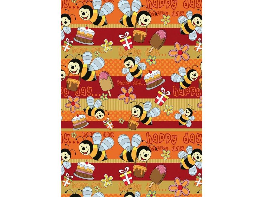 Papíry dárkové  -  role 200 cm x 70 cm / dětské motivy