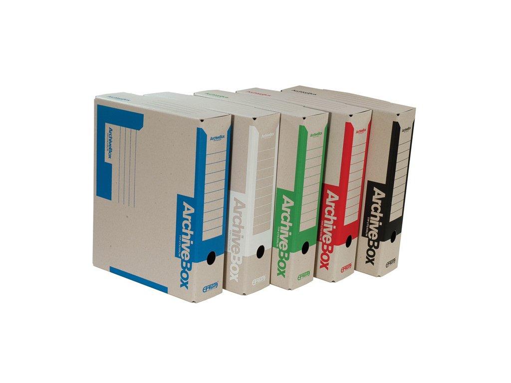 Box archivní A4 Emba - hřbet 7,5 cm / zelená