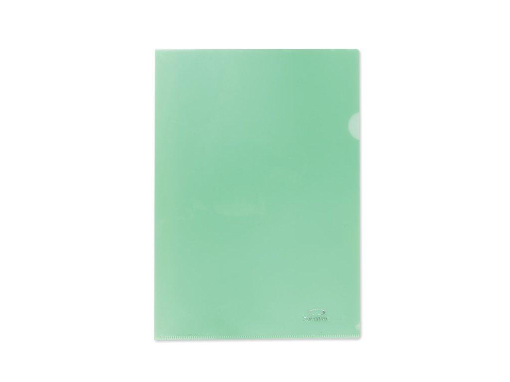 Zakládací obal A4 barevný - tvar L / zelená / 10 ks