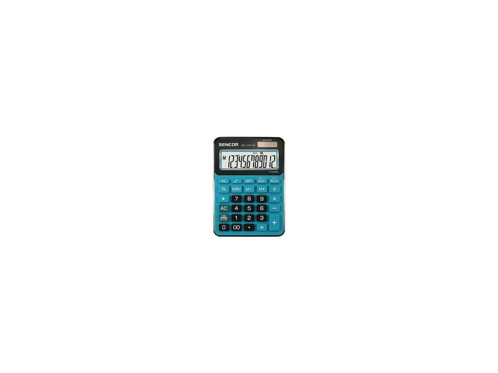 Kalkulačka Sencor SEC 372T - displej 12 míst / modrá