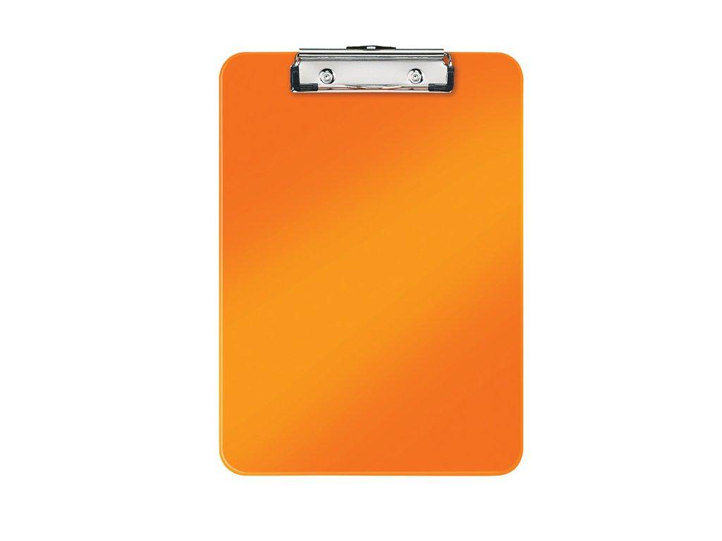 Podložka A4 s klipem Leitz WOW - oranžová