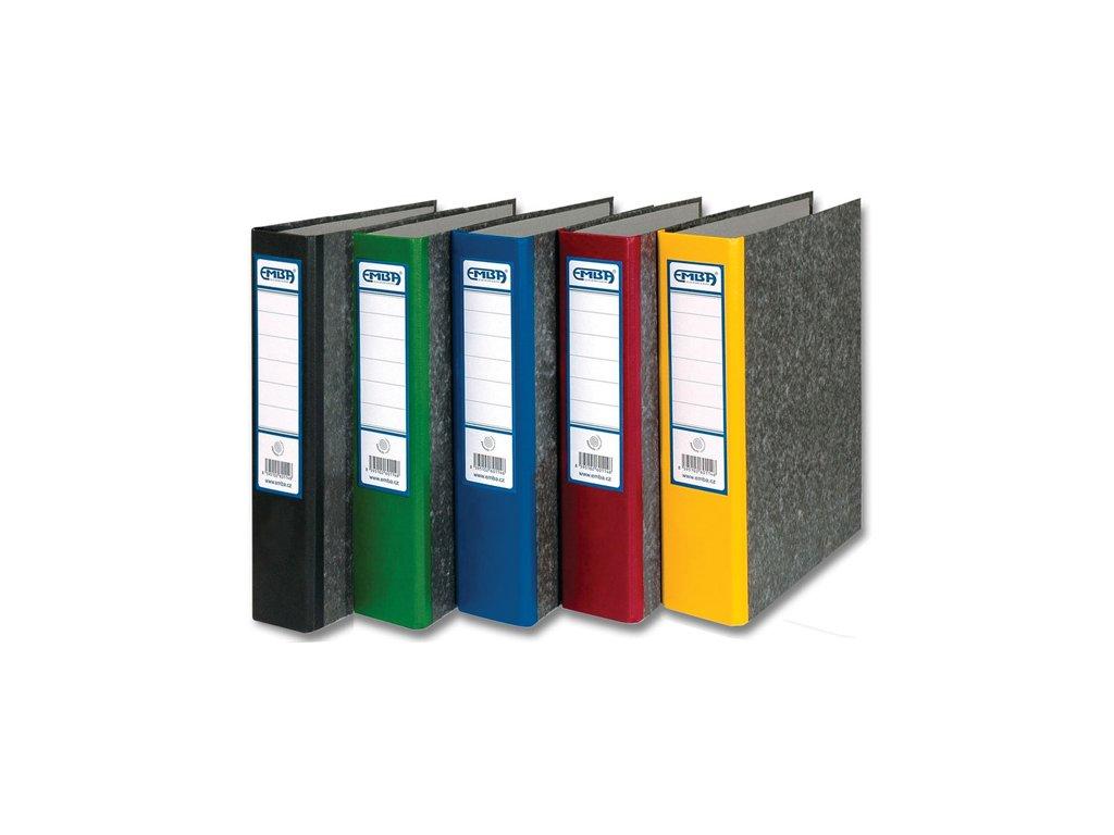 Pořadač A4 papírový archivní - hřbet 8 cm / modrá
