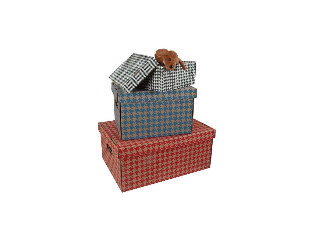 Krabice úložná s víkem - bílá / A5 / 22 x 15,5 x 10 cm