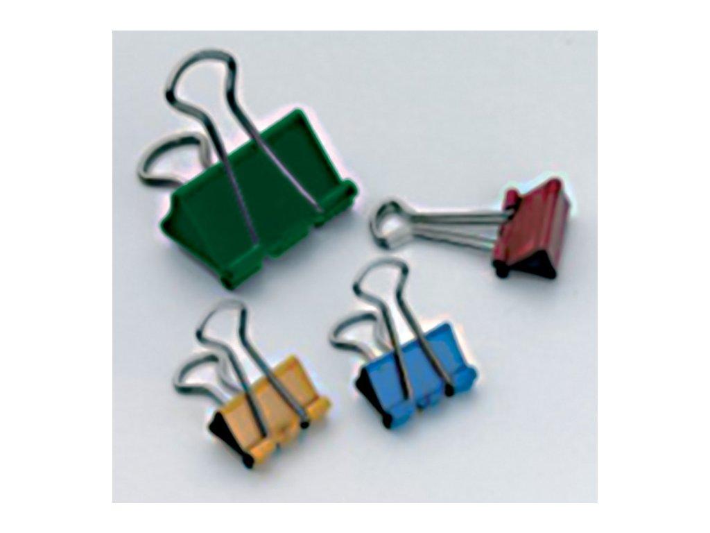 Klipy kovové barevné RON - 25 mm