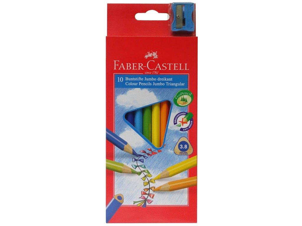 Pastelky Junior TRIANGULAR - 10 barev
