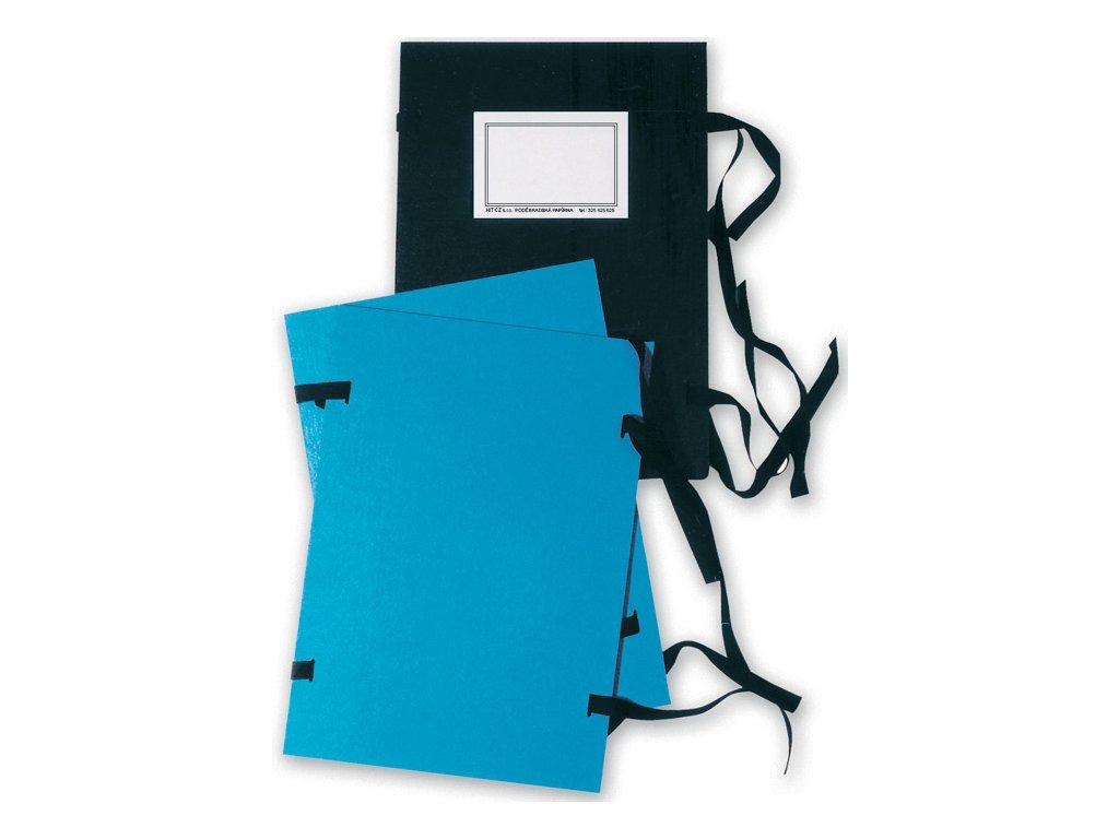 Spisové desky s tkanicí - A4 / modrá
