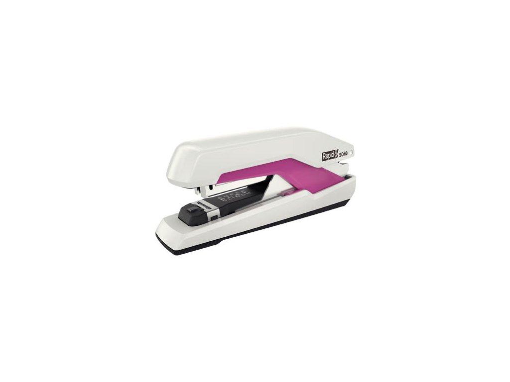 Kancelářský sešívač Rapid Omnipress SO60 - bílá / růžová