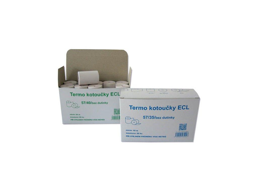 Pásky do pokladny termocitlivé - 80 mm / 70 mm / 12 mm