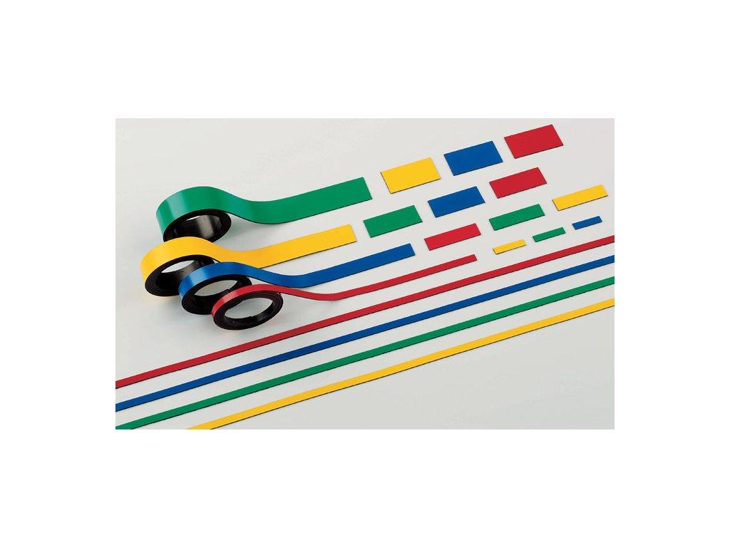Magnetické pásky - 20 mm x 1 m / zelená / 2 ks