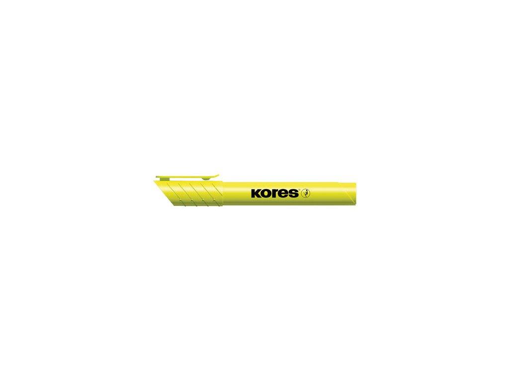 Zvýrazňovač Kores High liner PLUS - žlutá