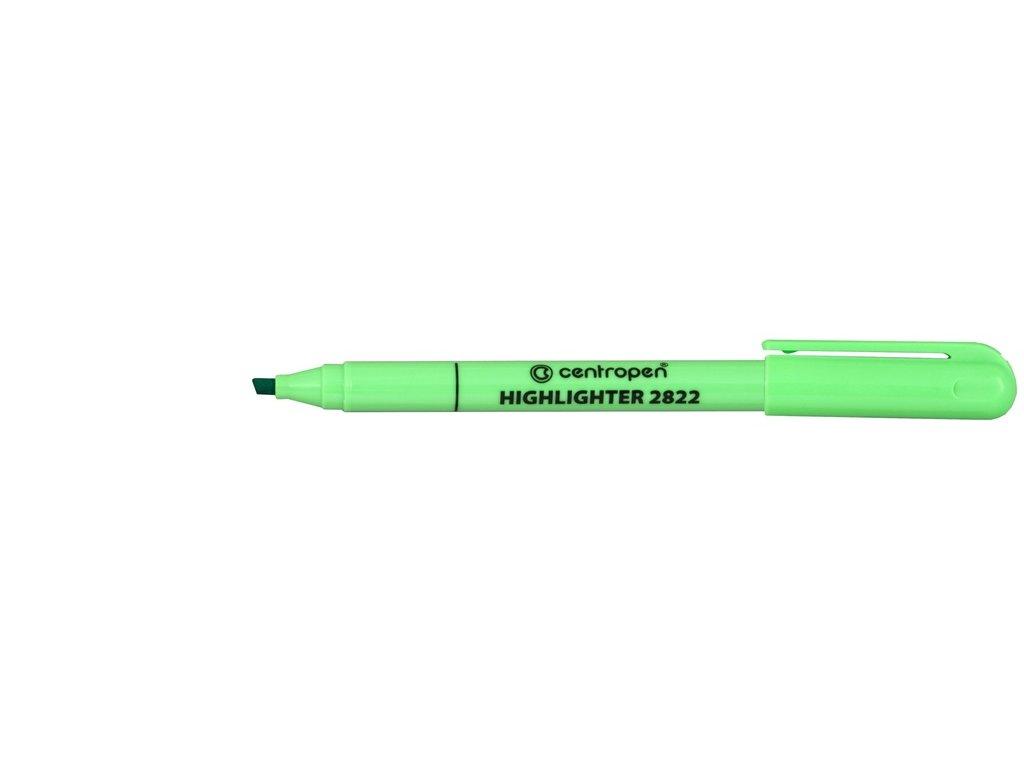 Zvýrazňovač Centropen 2822 - zelená