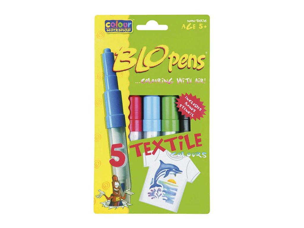 Foukací fixy TEXTILE 1539 Centropen - na textil / sada 5 ks