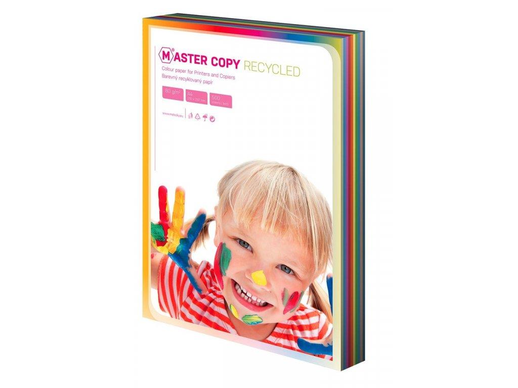 Barevné papíry A4 80 g - EKO Master / 100 listů / barevný mix