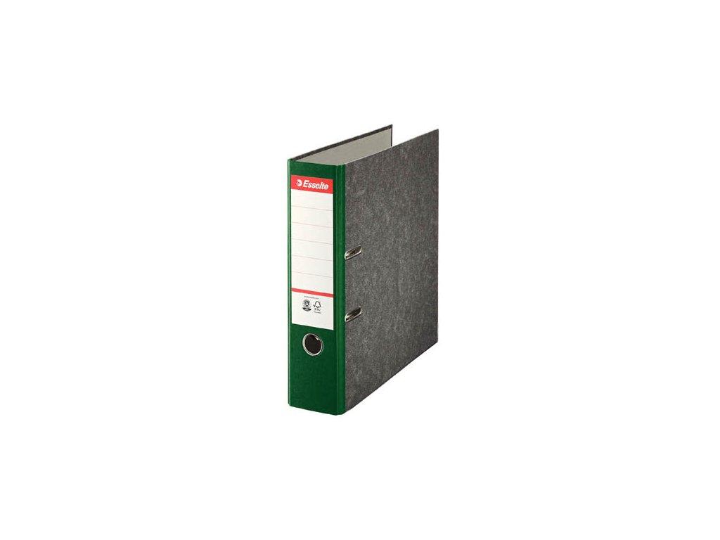 Pořadač A4 pákový papírový s barevným hřbetem - hřbet 7,5 cm / zelená