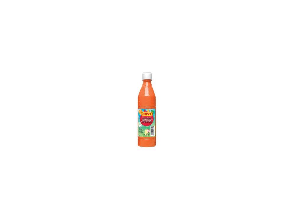 Tekuté temperové barvy JOVI v lahvi - 500 ml / oranžová