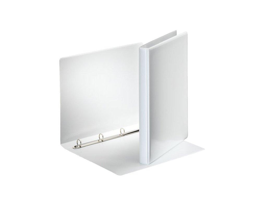 Pořadač A4 kroužkový prezentační - hřbet 3 cm -4 - kroužek / bílá