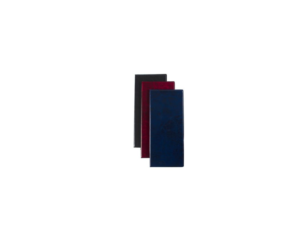 Vizitkář čtyřřadý kůže lesk - černá