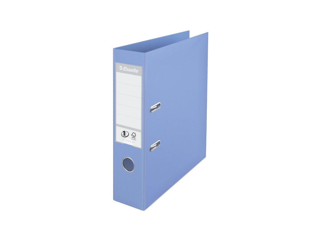Pořadač A4 pákový celoplastový pastelový Solea - hřbet 7,5 cm / modrá