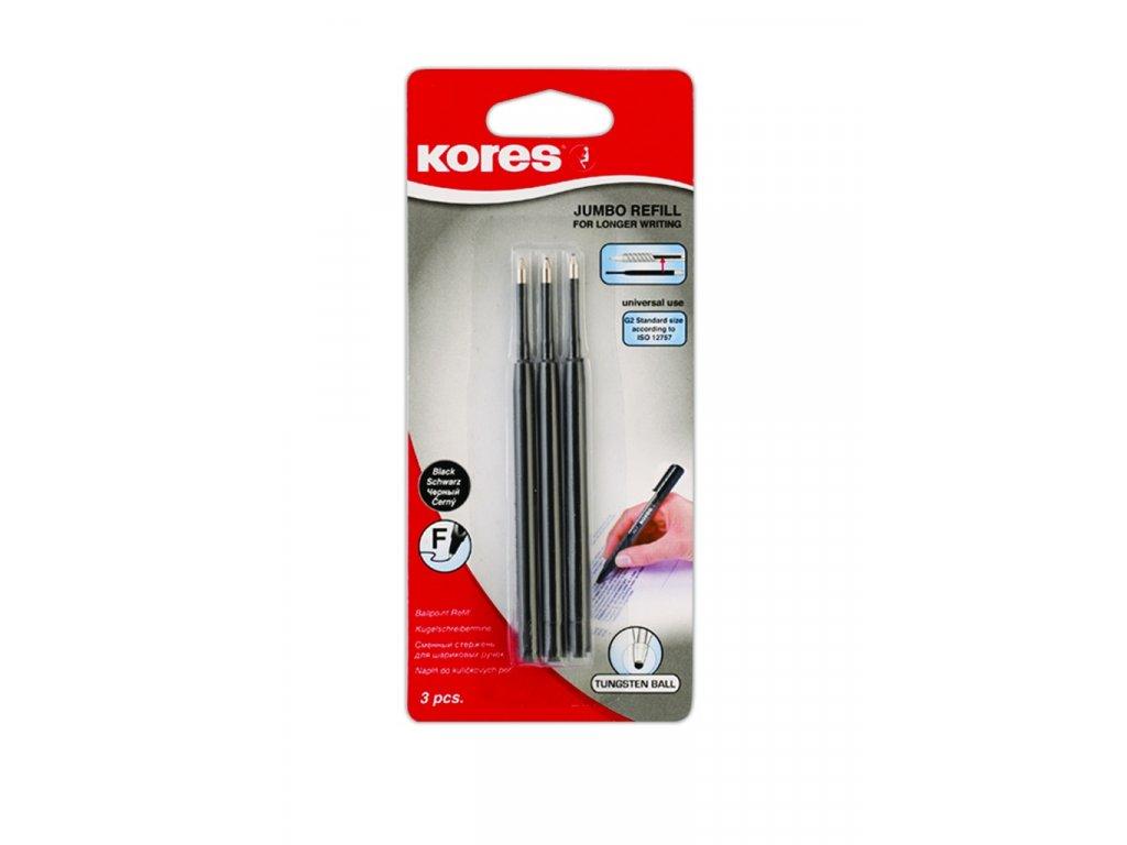 Náplň Kores Jumbo K5+K6 Pen -  černá