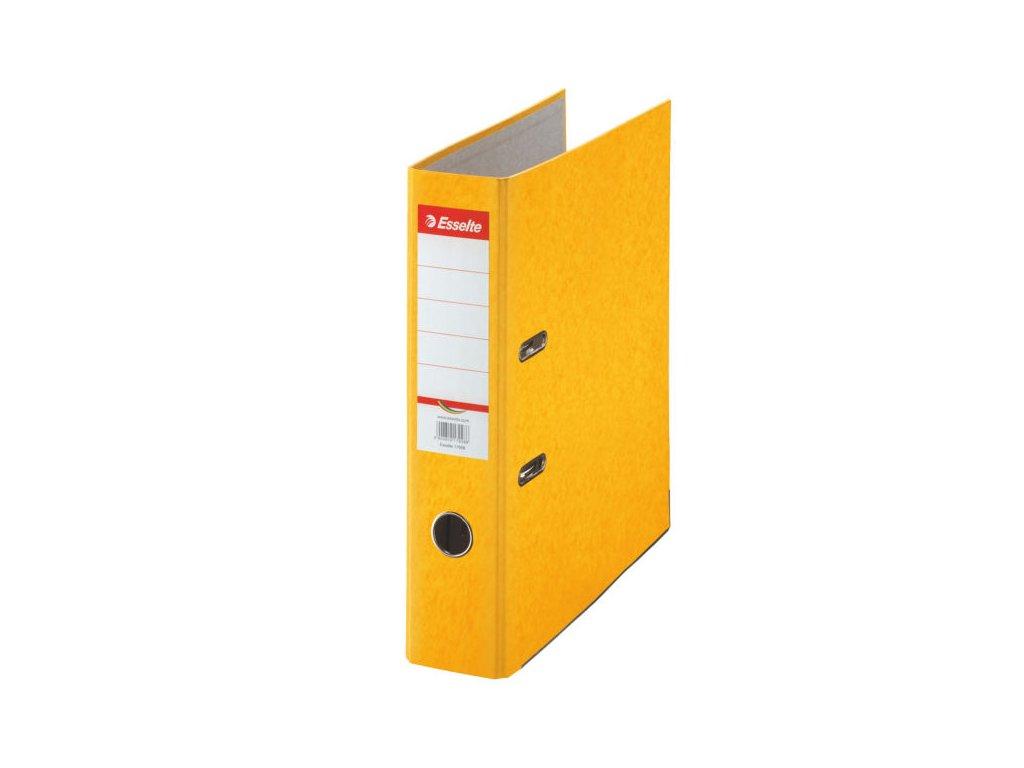 Pořadač A4 pákový kartonový Rainbow - hřbet 7,5 cm / žlutá