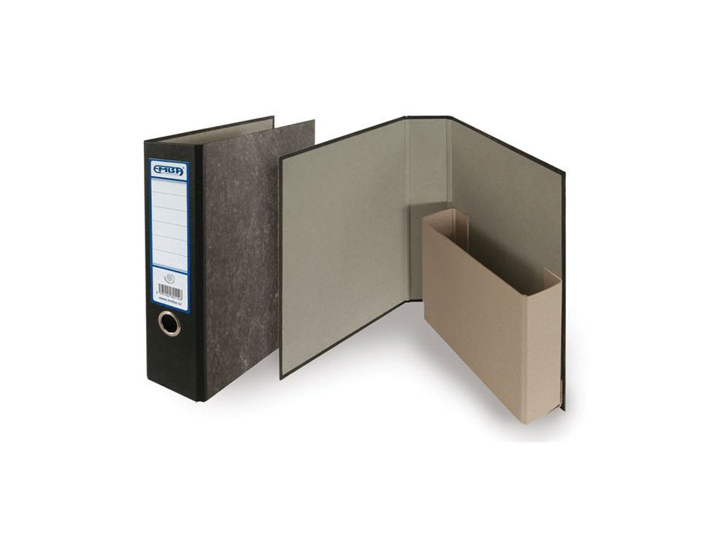 Pořadač A4 papírový archivní - hřbet 8 cm / černá