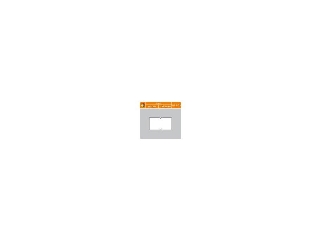Etikety do etiketovacích kleští - 22 x 12 mm COLA-PLY / bílá
