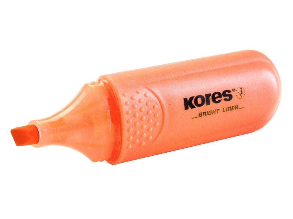 Zvýrazňovač Kores Bright liner - oranžová
