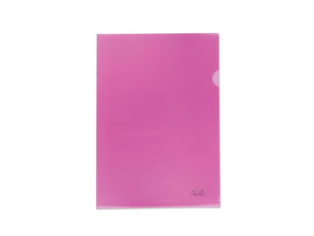 Zakládací obal A4 barevný - tvar L / růžovo-červená / 10 ks