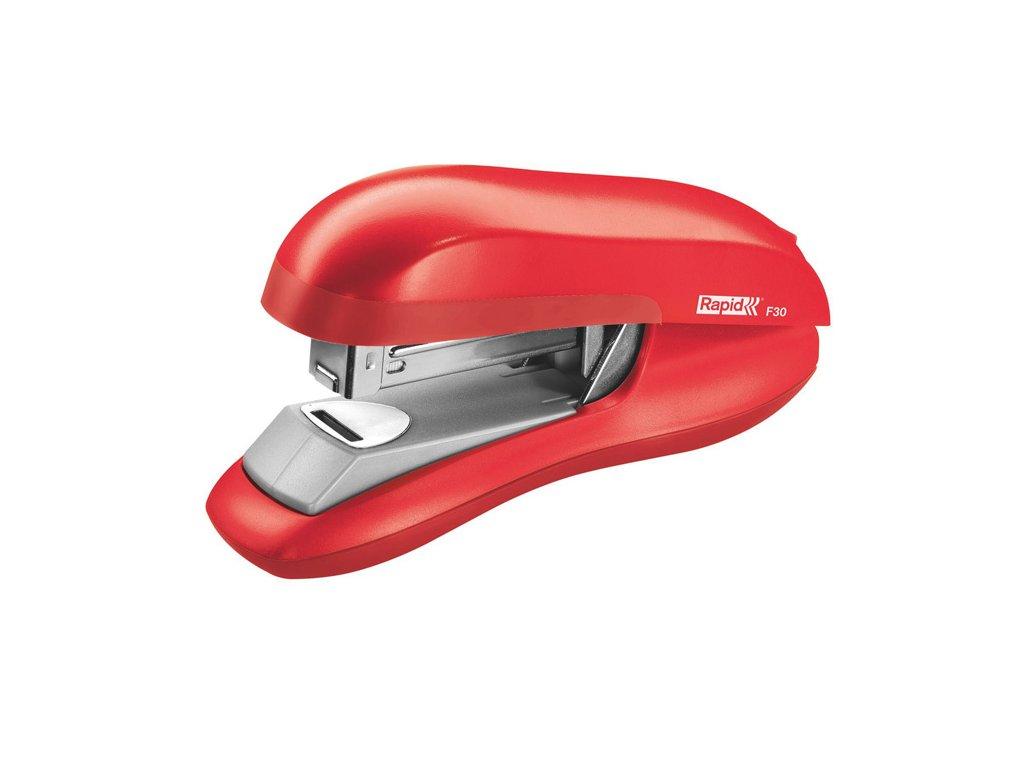 Kancelářský sešívač Rapid F30 s plochým sešíváním - světle červená