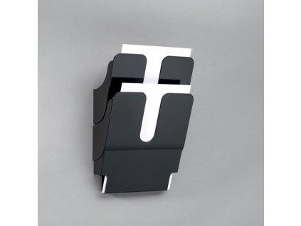 Držáky na prospekty Durable - Flexiplus 2 / A4 černý / na výšku