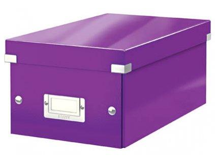 Krabice Leitz Click & Store - na DVD / fialová