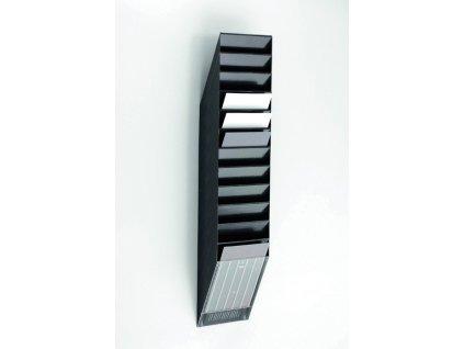 Držáky na prospekty Durable - Flexiboxx 12 / A4 černý / na výšku