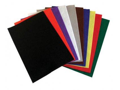 Dekorační filc - 20 x 30 cm / barevný mix