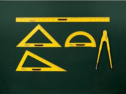 Rýsovací potřeby na školní tabuli LINEX - trojúhelník 30/60°