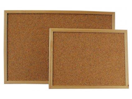 Tabule korkové - 40 x 60 cm / dřevěný rám