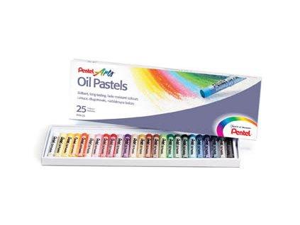 Olejové pastely Pentel - 25 barev