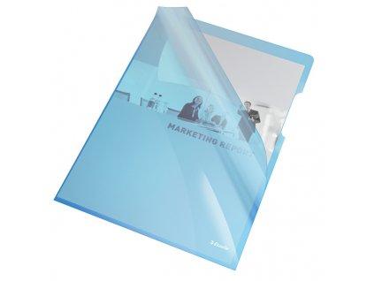 Zakládací obal A4 silný barevný - tvar L / modrá 25 ks
