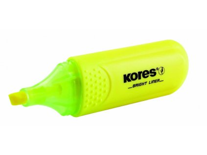 Zvýrazňovač Kores Bright liner - žlutá